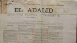 BP44 CUBA SPAIN NEWSPAPER ESPAÑA 1886  EL ADALID 24/10/1886 - Magazines & Newspapers