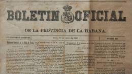 BP6 CUBA SPAIN NEWSPAPER ESPAÑA 1888 BOLETIN OFICIAL DE LA HABANA 19/06/1888