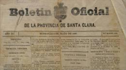 BP5 CUBA SPAIN NEWSPAPER ESPAÑA 1889 BOLETIN OFICIAL DE SANTA CLARA 8/05/1889 - Magazines & Newspapers