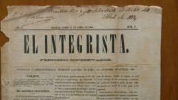 BP42 CUBA SPAIN NEWSPAPER ESPAÑA 1884  EL INTEGRISTA 21/04/1884 - Magazines & Newspapers