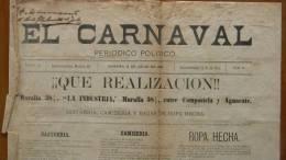 BP30 CUBA SPAIN NEWSPAPER ESPAÑA 1886  EL CARNAVAL 18/07/1886 - Magazines & Newspapers