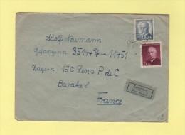 Tchecoslovaquie Destination Depot De Prisonniers De Guerre Allemands A Lens - Tchécoslovaquie
