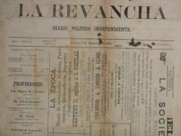"""BP201 CUBA SPAIN NEWSPAPER ESPAÑA 1886 \""""LA REVANCHA\"""" 4/09/1886. 56X37cm. - Tijdschriften"""