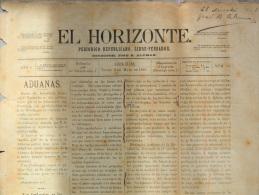 "BP205 CUBA SPAIN NEWSPAPER ESPAÑA 1886 \""EL HORIZONTE\"" 2/05/1886. 46X32cm. - Magazines & Newspapers"
