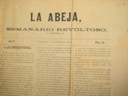 BP234 CUBA SPAIN NEWSPAPER ESPAÑA 1883 LA ABEJA 29/07/1883 45X30cm. - Magazines & Newspapers