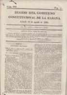 BP116 CUBA SPAIN NEWSPAPER ESPAÑA 1821 DIARIO GOBIERNO CONSTITUCIONAL 18/08/1821 - Magazines & Newspapers