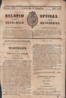 BP106 CUBA SPAIN NEWSPAPER ESPAÑA 1851 BOLETIN OFICIAL DE CANARIAS 14/11/1851 - Magazines & Newspapers