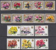 NIUE, 1985 FLOWERS 16, O/PRINTED OHMS MNH - Niue