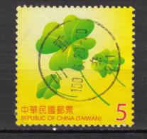 ##13, Taiwan, Trèfle, Clover, Chance, Luck - 1945-... République De Chine