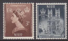 NIUE, 1953 CORONATION 2 MNH - Niue
