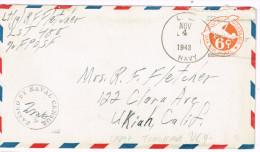 USA Cover Naval Advance Base: Torokina, Bougainville, Solomon Islands US Navy 1943 WWII On UC4 Fine - Poststempel