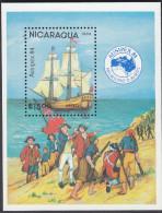 NICARAGUA, 1984 AUSIPEX MINISHEET MNH - Nicaragua