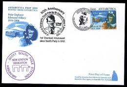 Antarctica Post Hillary FDC Card. Overland Attainment. - New Zealand