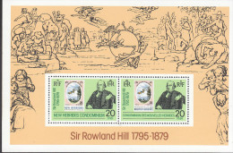NEW HEBRIDES(BR) 1979 ROWLAND HILL MINISHEET MNH - English Legend