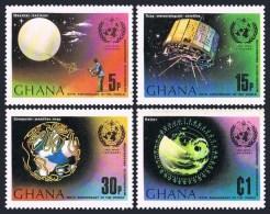 Ghana 1973 International Meteorological Cooperation Space Globe Satelliate Stamps MNH SC 503-506 Michel 520-523 - Unclassified