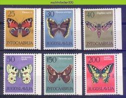 Mng107 FAUNA VLINDERS BUTTERFLIES SCHMETTERLINGE MARIPOSAS PAPILLONS JUGOSLAVIJA 1964 PF/MNH - Vlinders