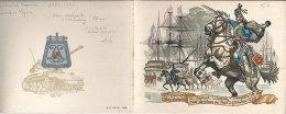 Guerre D´Algérie 5 RH Régiment De Hussards  Carte De Voeux Illustrée Cavalerie Légère Et Pucelle Char AMX 13 - Documenti