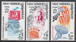 NEW HEBRIDES(BR) 1976 COMMUNICATIONS 3 MNH - English Legend