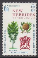 NEW HEBRIDES(BR) 1971 ROYAL SOCIETY 1 MNH - English Legend
