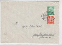 Brief Mit Zusammendruck Und Bahnpost Insterburg-Lyck 18.10.34 - Allemagne