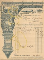 """1910 Sup.entête IMPRIMERIE """"impression Commerciale & Artist """"RAMBOZ Villeurbanne Litho Typo Gravure Papeterie Fact + E - France"""