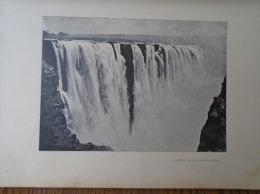 Zabia Zimbabwe Border -  Zambezi  - Victoria Falls, Or Mosi-oa-Tunya-  1906 Hungarian Print  2AFK467.2 - Autres Collections