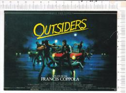 OUTSIDERS   -   D Après  Affiche       Film  De  Francis   Coppola -   C49 - Affiches Sur Carte
