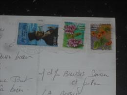 LETTRE AFRIQUE DU SUD SOUTH AFRICA SUID AFRIKA AVEC TIMBRE FLEUR ET TIMBRE FRANCE - AFFRANCHISSEMENT MIXTE - - Afrique Du Sud (1961-...)