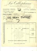 95 - Val-d´oise - BEZONS - Facture LA CELLOPHANE - Pellicule Cellulosique Transparente – 1932 - REF 28J - 1900 – 1949