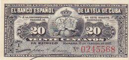 Cuba - El Banco Espanol de la Isla de Cuba 20 Centavos (FDC)