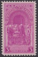 !a! USA Sc# 0854 MLH SINGLE - Washington Inauguration - Etats-Unis