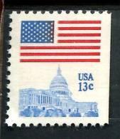 206182136  USA POSTFRIS MINT NEVER HINGED POSTFRISCH EINWANDFREI SCOTT Rechts Ongetand 1623 Flag  Over Capitol - Unused Stamps