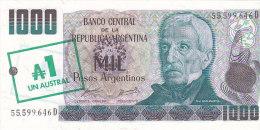 Argentina - Mil 1000 Pesos - 1 Austral (FDC) - Argentine