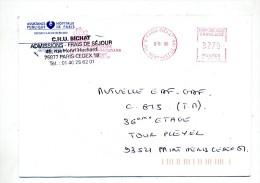 Lettre Flamme Ema Paris Hopital Bichat - Freistempel
