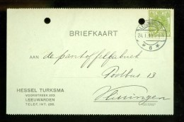 WW-1 * HANDGESCHREVEN BRIEFKAART COMITE VLUCHTELINGEN Uit 1918 Van LEEUWAREDEN Naar VLISSINGEN ( 9825s) - Periode 1891-1948 (Wilhelmina)