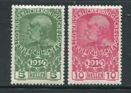 AUTRICHE- Y&T N�136 et 137- neufs avec charni�re *
