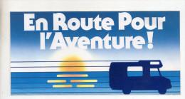 Ref AUTO 4 :   Autocollant Sticker En Route Pour L'aventure Camping Car - Autocollants