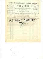 28 - Eure-et-loir - CHARTRES - Facture ARVIER - Fabrique De Toiles – 1877 - REF 28K - France