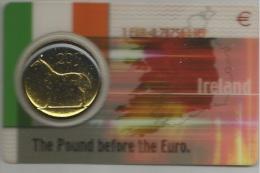 """IRLANDA IRELAND COINCARD """"the Paund Before The Euro"""" 20 P Con Il Cambio Del Paund Con L' Euro - Irlanda"""
