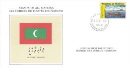 Maldives 1985 Male Fishing Ship Flag FDC Card - Maldiven (1965-...)