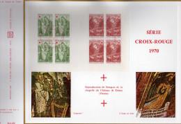Feuillet Tirage Limité CEF 153B Série Croix-rouge Fresques De La Chapelle Du Château De Dissay Vienne - France