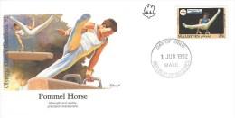 Maldives 1992 Male Olympic Games Barcelona Pommel Horse Gymnastics IOC FDC Cover - Zomer 1992: Barcelona