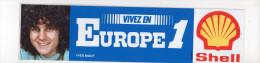 Ref AUTO 4 :   Autocollant Sticker Shell EUROPE 1 Yves BIGOT - Autocollants