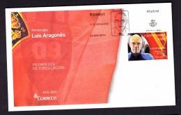 SPAIN ESPAGNE ESPAÑA 2015 FDC. LUIS ARAGONES TRAINER OF SPANISH FOOTBALL TEAM LA ROJA - FDC