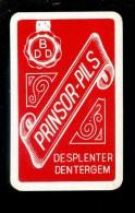 Speelkaart ( 877 ) Dos D´une Carte à Jouer - Bier Bière Bieren Brasserie Brouwerij - PRINSOR  Despenter Dentergem - Barajas De Naipe