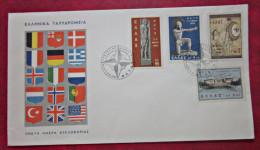 Brief Griechenland GREECE 1962 FDC Historische Krieger Briefmarken - FDC
