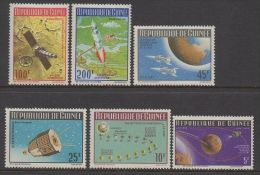 Guinea 1965 Space Exploration Ranger VII Vostok Satellites Moon Landing Rocket Stamps MNH Michel 324-329 Scott 401-404 - Space