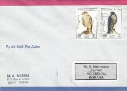 Qatar 1999 Doha Eagle Falcon Bird Of Prey Cover - Qatar