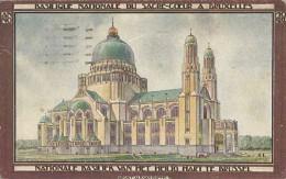Koekelberg.  -  Basilique Nationale... Gekleurde REKLAME  kaart!  1931 naar Gand