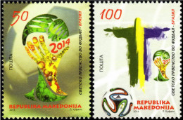 Macedonia 2014 Football, Soccer, World Cup Brazil, Brazuca, Set MNH - Macedonia